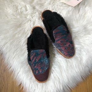 NWOT Free People Butterfly Effect Mules